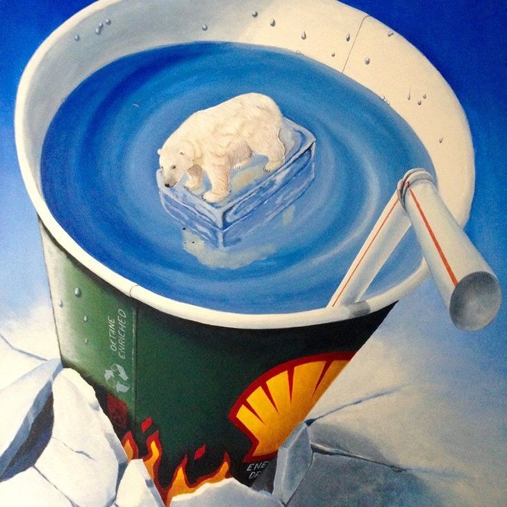 art-pop-Shell-energy-drink_stefano-gentile_polar-bear_save-the-arctic_painting_global-warming_oil-drilling