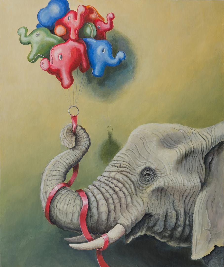 bringing life-stefano-gentile-art-pop-elephant