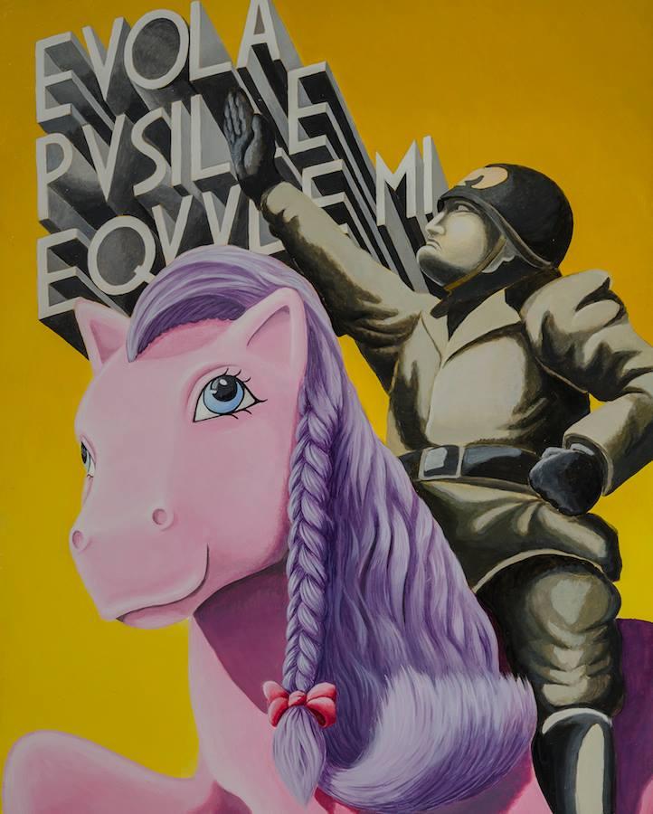 art-pop_stefano_gentile_mussolini_mio mini pony_duce