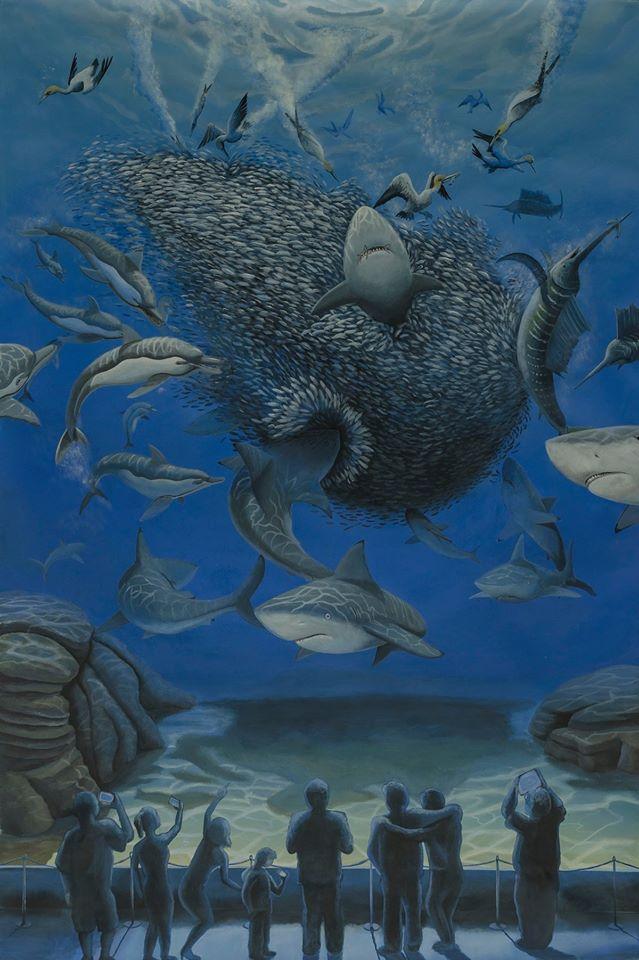stefano-gentile-arte-pop-art-sardine-squali-mediterraneo-profughi-immigrazione