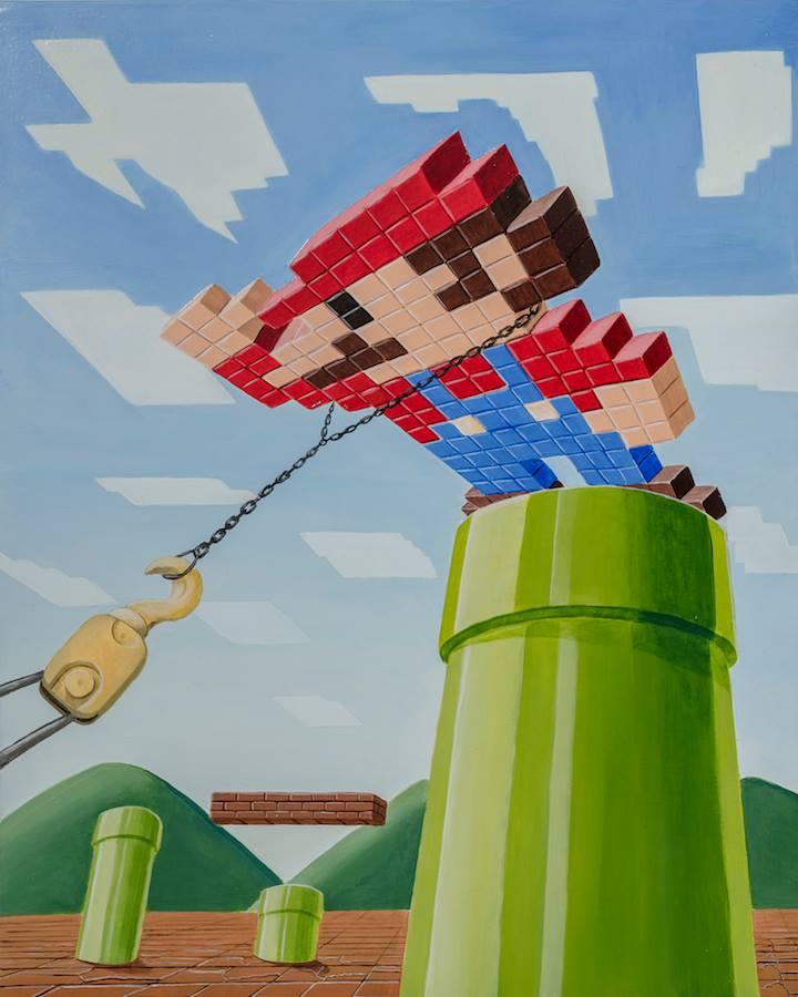 game_over_saddam_stefano_gentile-art-pop-super-mario-irak