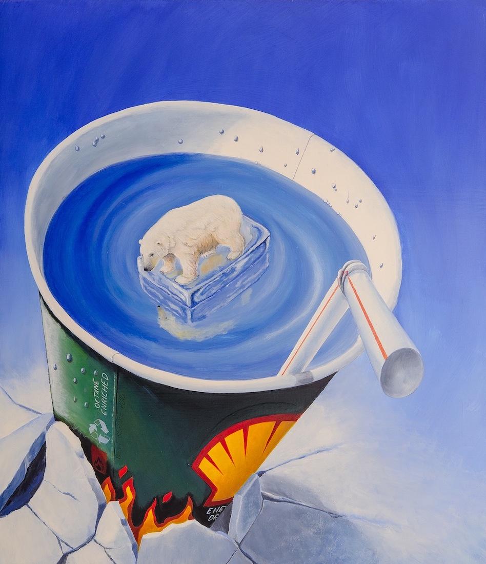 stefano-gentile-art-pop-apocalypse-apocalisse-arte-polarbear-artic