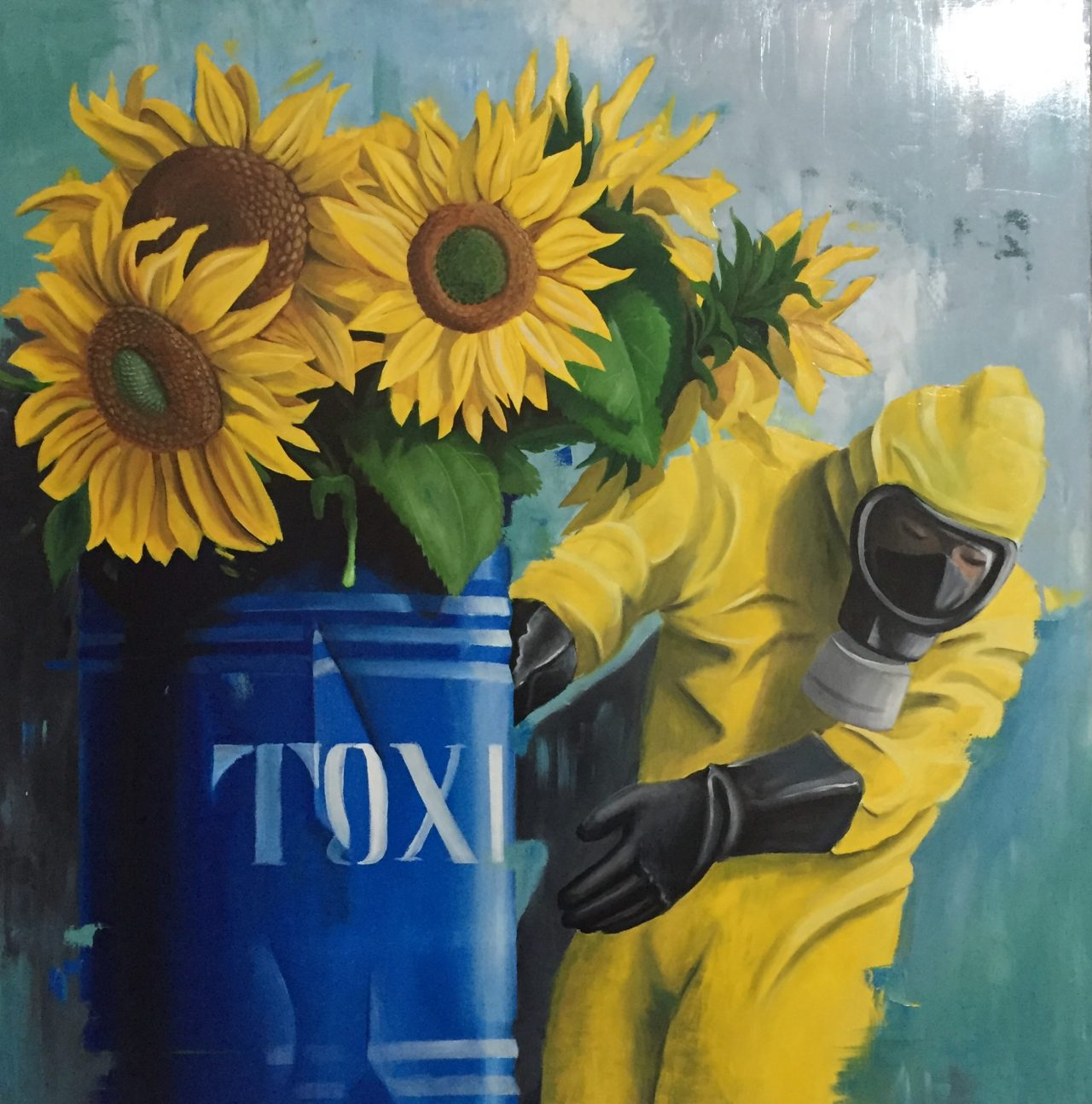 stefano-gentile-sunflowers-girasoli-pop-art-arte-nuke-toxic
