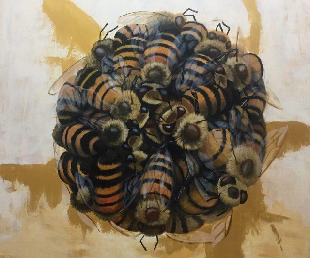 Stefano-gentile-Bee safe-oil on canvas-80x80cm copia