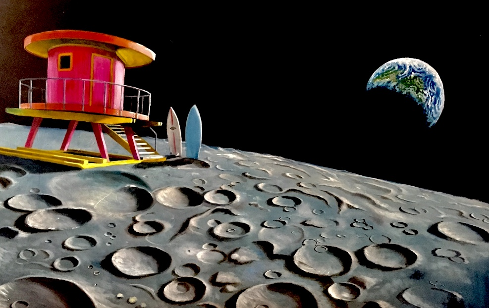 stefano-gentile-art-pop-moon-luna-surf-space-baywatch