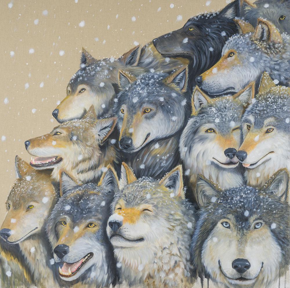 Wolves-Pack-stefano-gentile-art-pop-lupi-branco