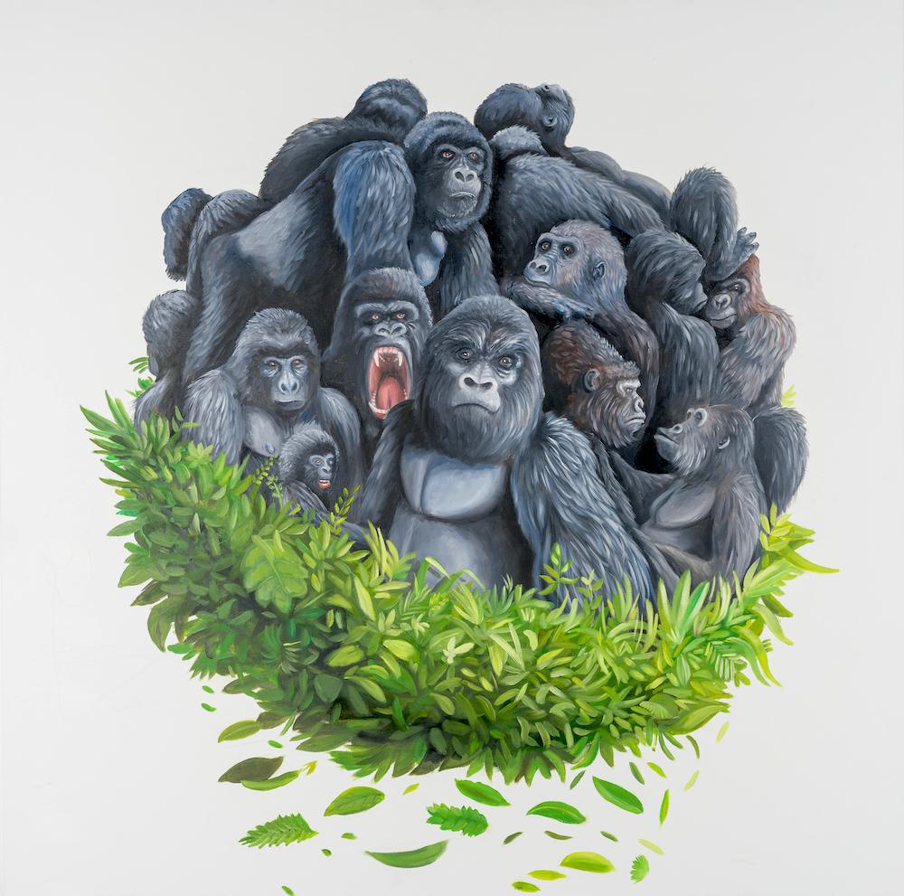 gorilla-stufano-gentile-art-pop-dian-fossey-congo