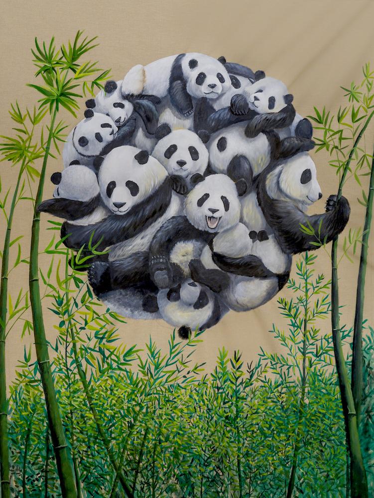 Pandemonium-panda-stefano-gentile-art-pop-animal
