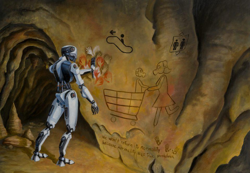 Ancestor-stefano-gentile-art-pop-android-coronavirus-extinction-pop-future