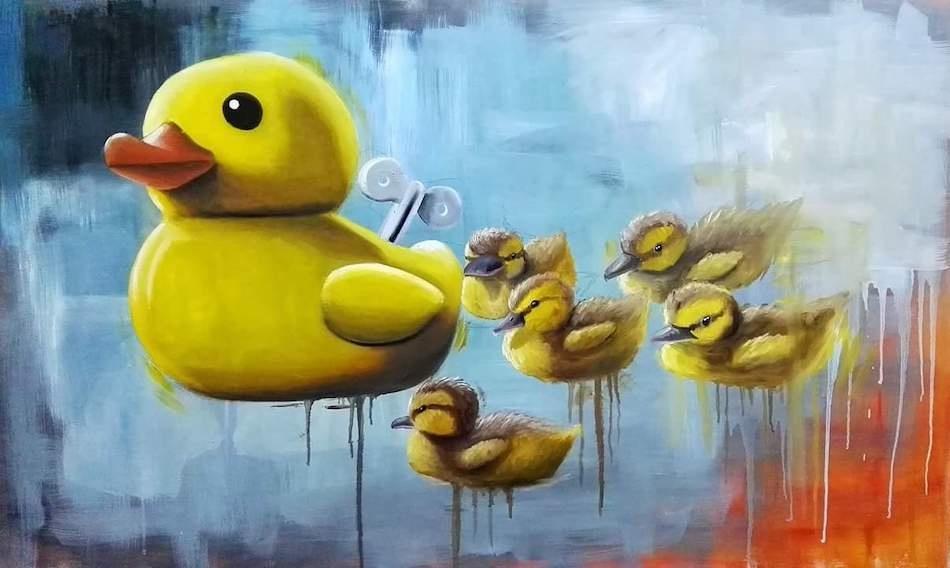 stefano-gentile-art-pop-duck-papere-