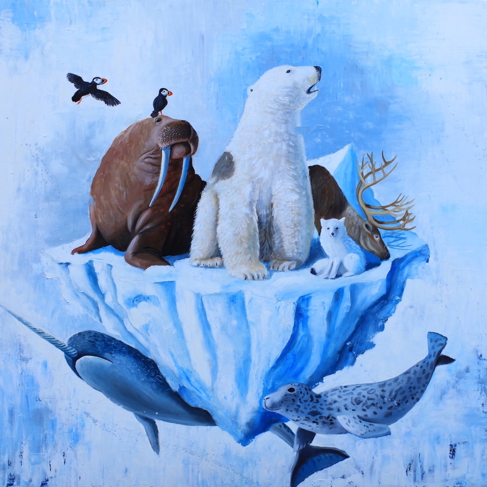lifeboat-stefano-gentile- art-pop-artic-polarbear