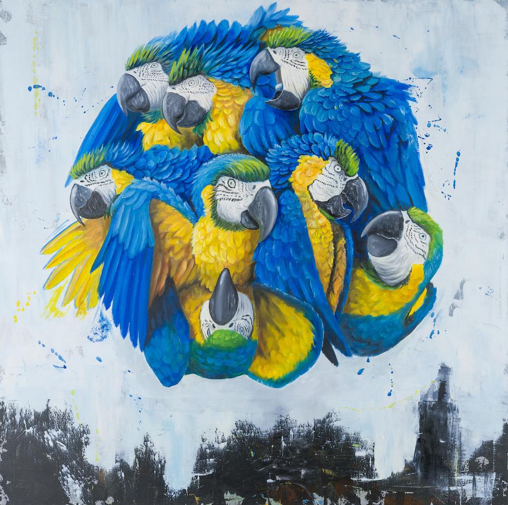 Macaw-stefano-gentile-art-pop-pappagalli-ara-amazzonia