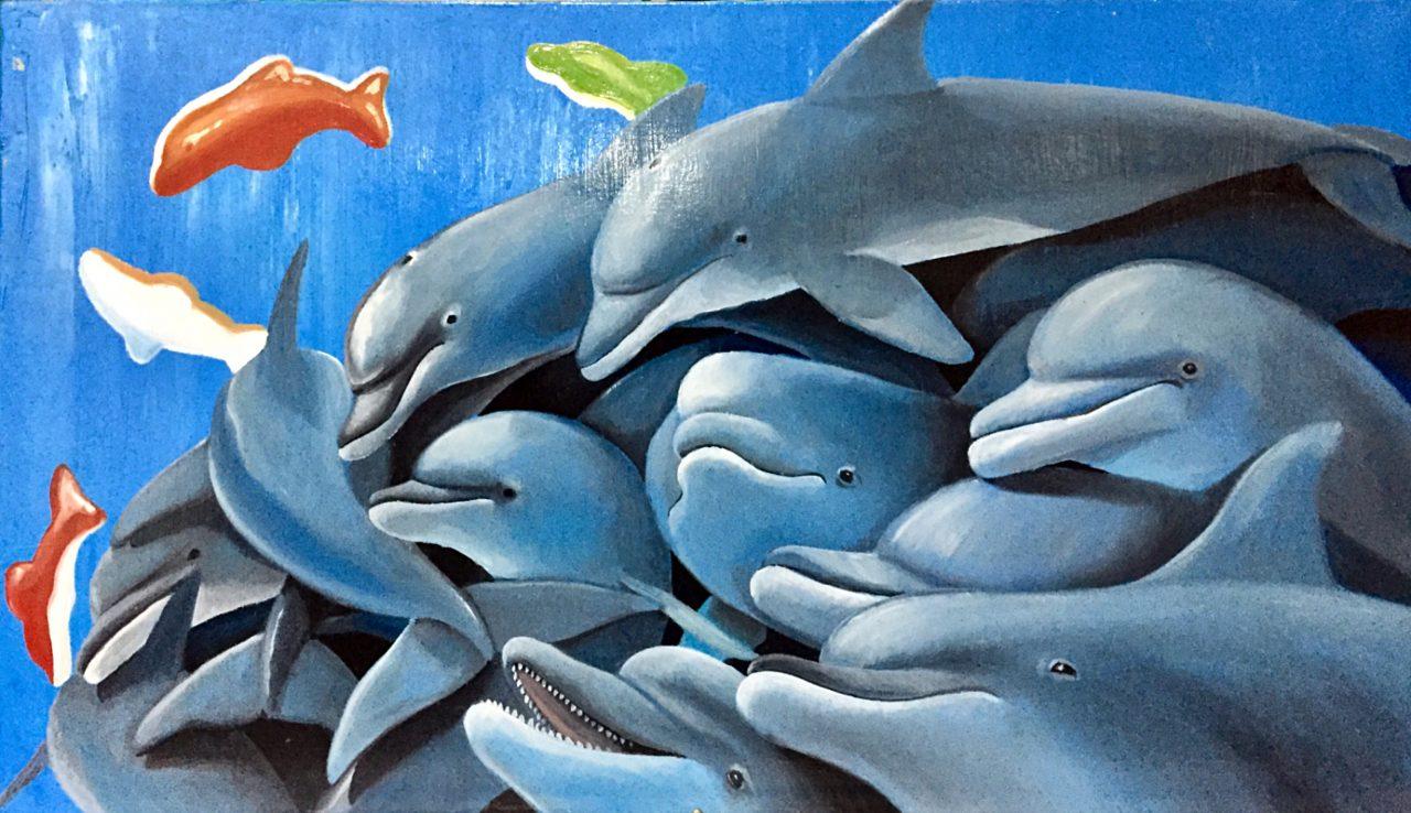 stefano-gentile-art-pop-dolphins-delfini-jelly-animal